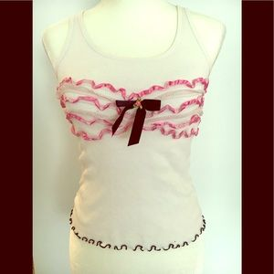 Betsey Johnson tank top. Size medium.